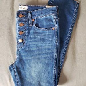 "NWT Madewell sz 26 10"" High Rise Skinny Crop Jean"